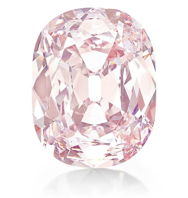 The Princie Diamond: 34.65-carat fancy-intense pink diamond of Golconda origin. Image: Christie's