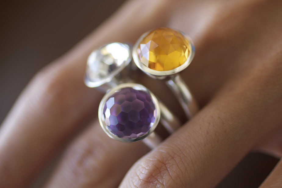 Cosmic Cocktail Stacking Rings from Shamila Jiwa's Lokum Lale Luxe Collection - Photo © Erika Winters