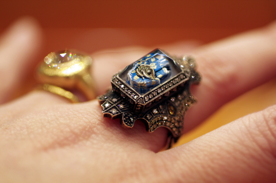 Hamsa ring by Sevan Bicakci