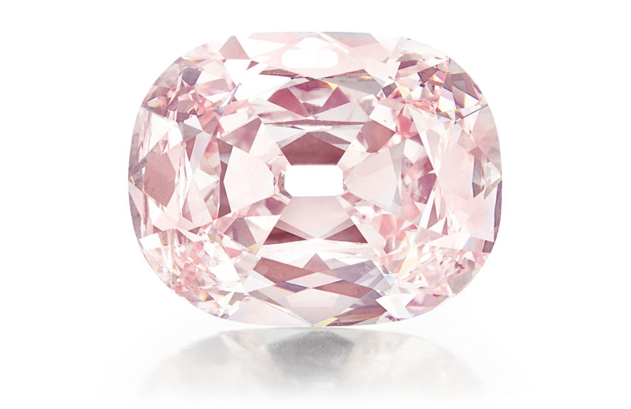 The Princie Diamond, a rare 34.65-carat fancy-intense pink, fetched over $39 million at Christie's New York