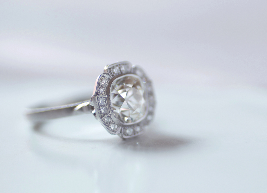 Erika Winters Design Caroline Halo Engagement Ring