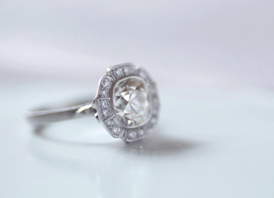 Erika Winters Design Caroline Halo Engagement Ring