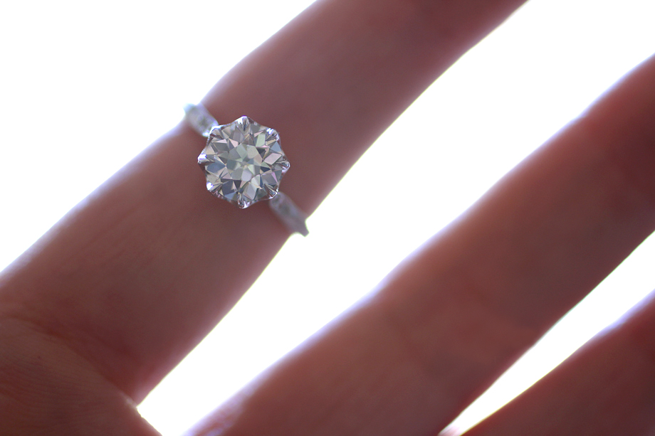 Erika Winters Designs Grace Solitaire Engagement Ring