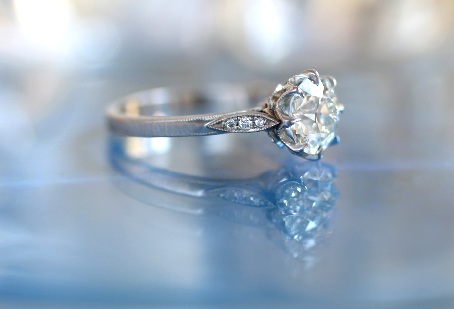 Grace solitaire engagement ring by Erika Winters
