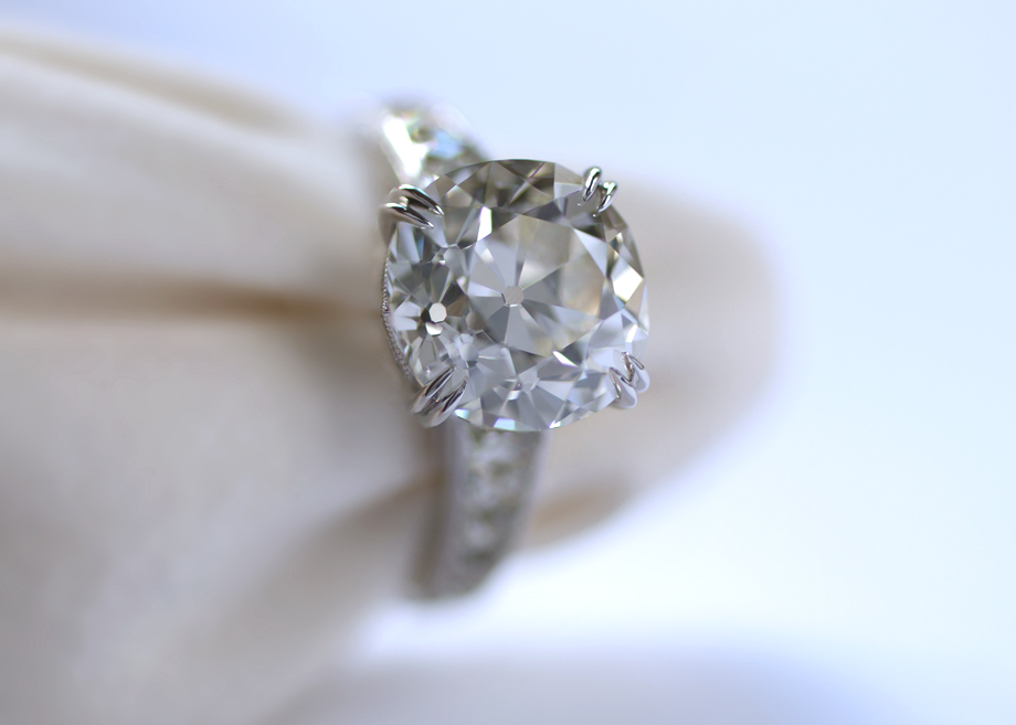 Erika Winters Design Minna French Cut Diamond Custom Engagement Ring