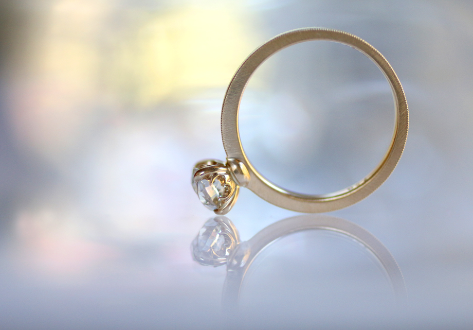 Erika Winters Designs Laurel Solitaire Engagement Ring - Photo © Erika Winters