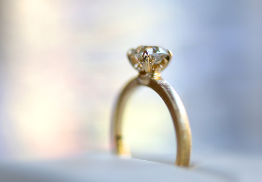 Erika Winters Designs Laurel Solitaire Engagement Ring - Photo © Erika Winters