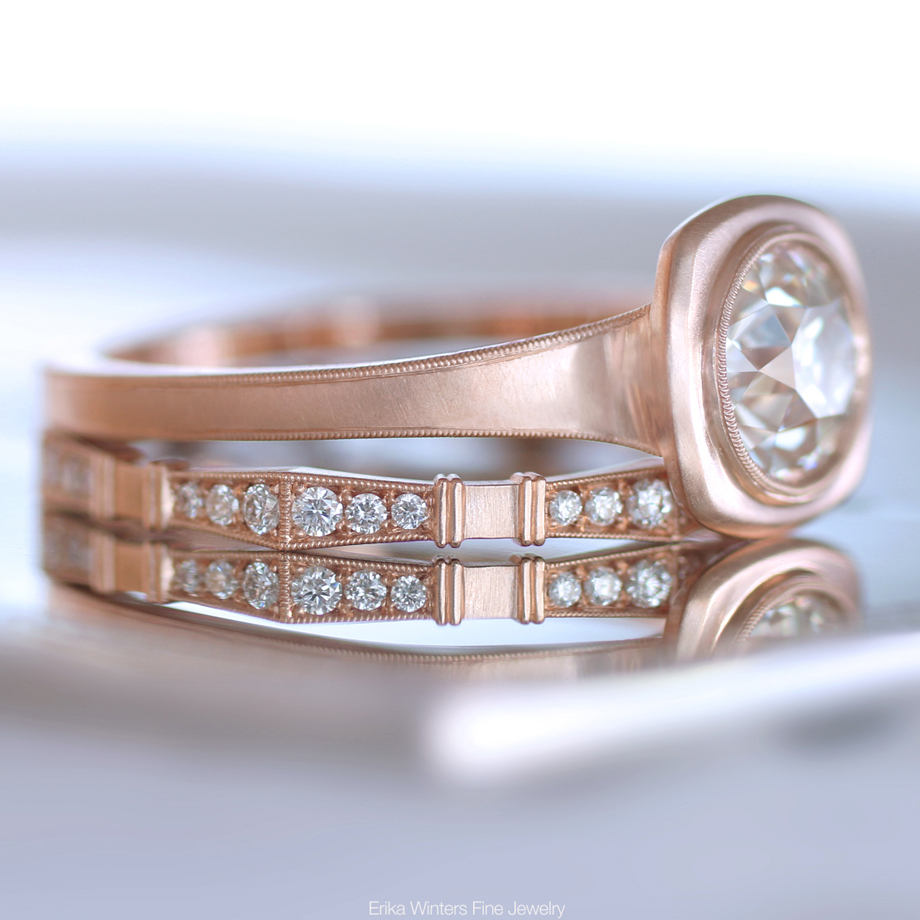 Erika Winters Fine Jewelry Jin bezel engagement ring in rose gold