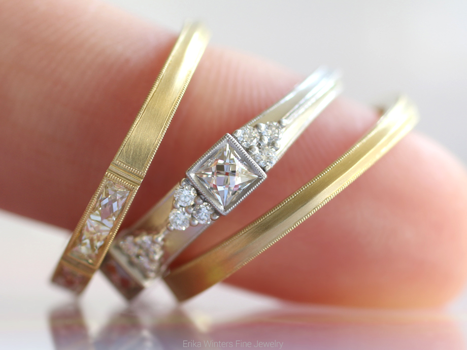 Erika Winters Fine Jewelry: Isabella, Cordelia, and Eleanor wedding bands