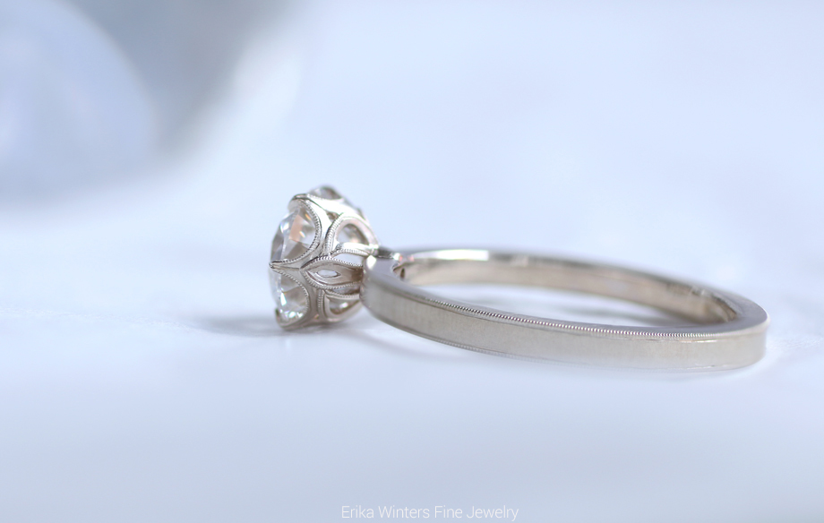 Erika Winters Fine Jewelry - Grace 6 Prong Engagement Ring - Photo © Erika Winters