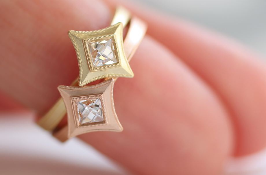Erika Winters Fine Jewelry Estella Star Pinky Rings