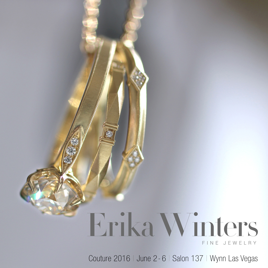 Erika Winters Fine Jewelry - Grace solitaire, Viola Band, Lily Band